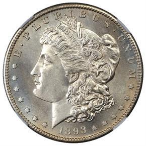 1893 S S$1 MS obverse