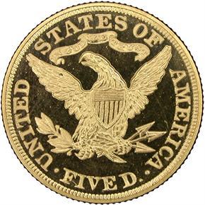 1895 $5 PF reverse
