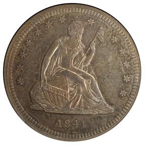 1841 25C PF obverse