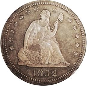 1852 25C PF obverse