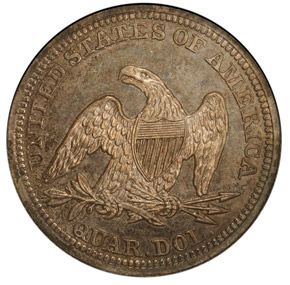 1854 ARROWS 25C PF reverse