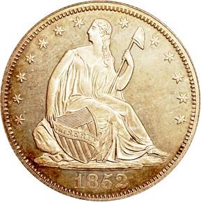 1852 50C PF obverse