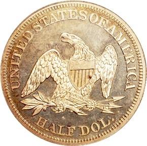 1852 50C PF reverse