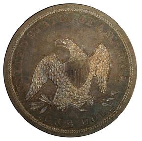 1843 S$1 PF reverse
