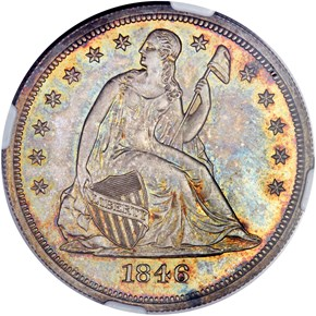 1846 S$1 PF obverse