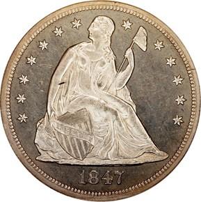 1847 S$1 PF obverse