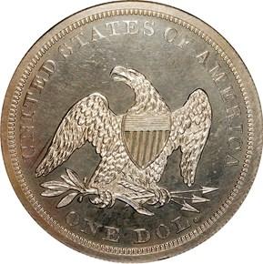 1847 S$1 PF reverse