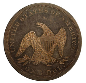 1851 RESTRIKE S$1 PF reverse