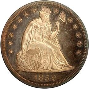 1852 RESTRIKE S$1 PF obverse