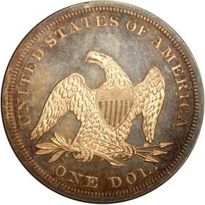 1852 RESTRIKE S$1 PF reverse