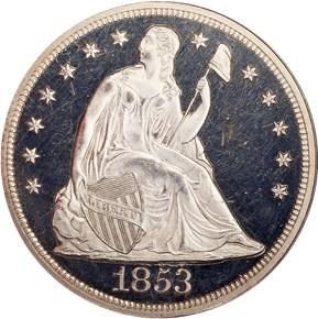 1853 S$1 PF obverse