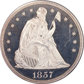 1857 S$1 PF obverse