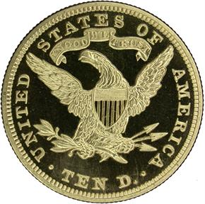 1899 $10 PF reverse