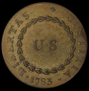 1783 SM 'US' BLUNT RAYS NOVA CONSTELLATIO MS reverse