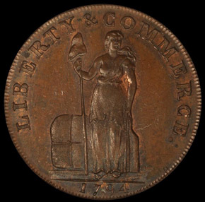 1794 L.E. 'NEW YORK' TALBOT ALLUM & LEE 1C PF obverse