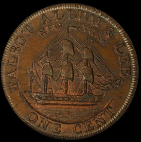 1794 L.E. 'NEW YORK' TALBOT ALLUM & LEE 1C PF reverse