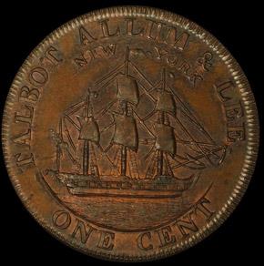 1794 L.E. 'NEW YORK' TALBOT ALLUM & LEE 1C PF reverse