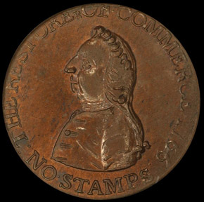 1766 WILLIAM PITT 1/2P MS obverse