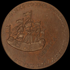 1766 WILLIAM PITT 1/2P MS reverse