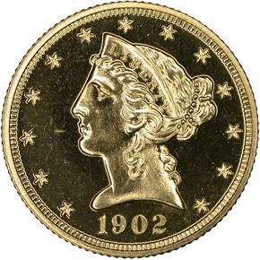 1902 $5 PF obverse