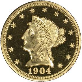 1904 $2.5 PF obverse