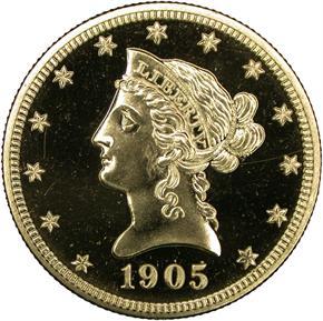 1905 $10 PF obverse