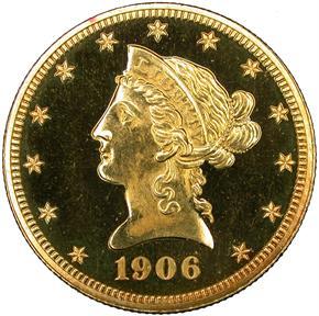 1906 $10 PF obverse
