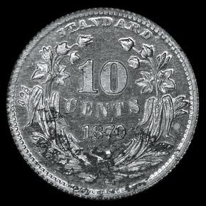 1870 J-847 10C PF reverse