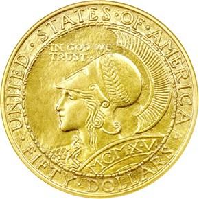1915 S ROUND PANAMA-PACIFIC $50 MS obverse