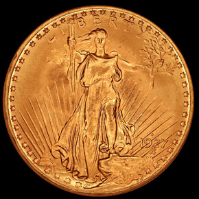 1927 D $20 MS obverse