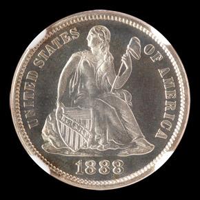 1888 10C PF obverse