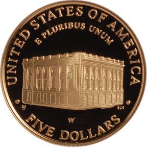 2001 W CAPITOL $5 PF reverse