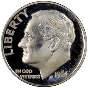 1961 10C PF obverse
