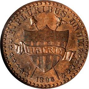 1896 J-1768a 1C PF obverse
