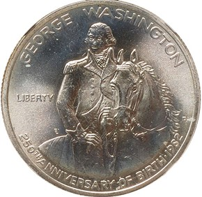 1982 D WASHINGTON 50C MS obverse
