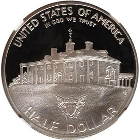 1982 S WASHINGTON 50C PF reverse