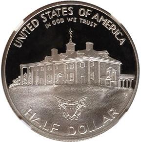 1982 S WASHINGTON 50C PF reverse
