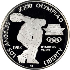 1983 S OLYMPICS S$1 PF obverse