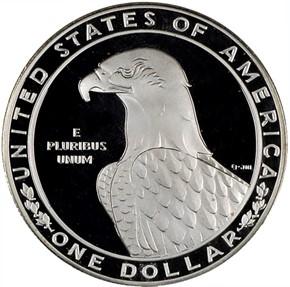 1983 S OLYMPICS S$1 PF reverse