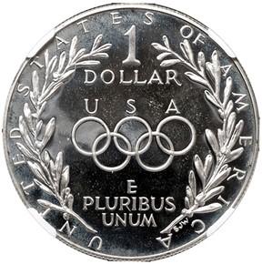 1988 S OLYMPICS S$1 PF reverse