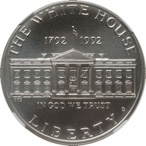 1992 D WHITE HOUSE S$1 MS obverse
