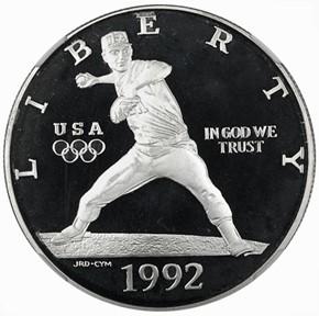 1992 S OLYMPICS S$1 PF obverse