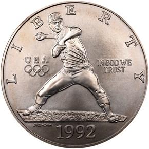 1992 D OLYMPICS S$1 MS obverse