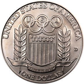 1992 D OLYMPICS S$1 MS reverse
