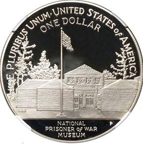 1994 P POW MUSEUM S$1 PF reverse
