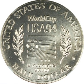 1994 D WORLD CUP 50C MS reverse