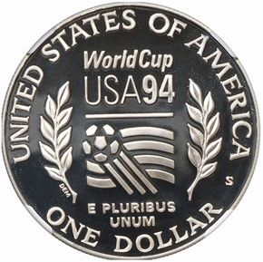1994 S WORLD CUP S$1 PF reverse