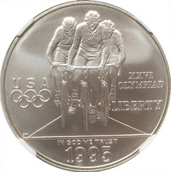 1995 D OLYMPICS CYCLING S$1 MS obverse