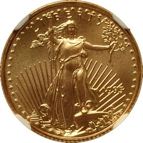 1995 EAGLE G$5 MS obverse