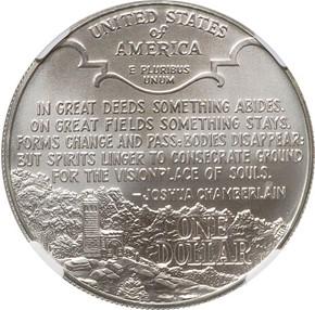 1995 P CIVIL WAR S$1 MS reverse